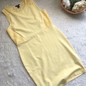 H&M Yellow Lace Dress